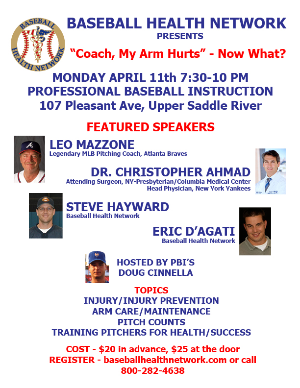 Baseball Health Network 4/11/16 seminar